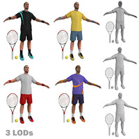 Tennis Players LODs