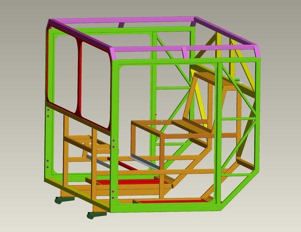 metal frame cabin air obj