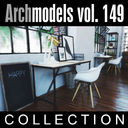 archmodels vol 149 office furniture 3d model