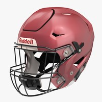 riddel speedflex helmet red 3d model