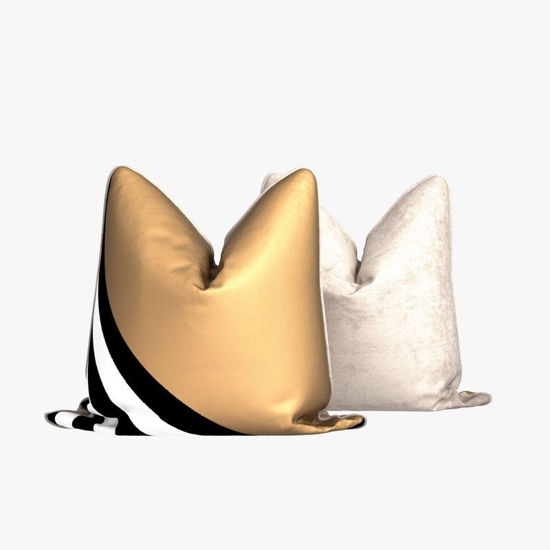 gold silk stripes 3d 3ds