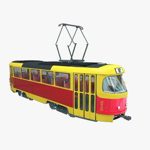 3d tram european prop