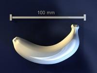 3d banana mold hand model