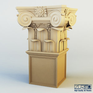 3d model of column capital