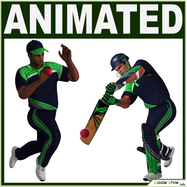 bowler batter 3d max