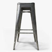 realistic tolix bar stool 3d max