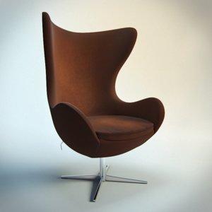 3d egg arne jacobsen chair model