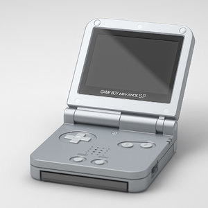 nintendo boy advance 3d max