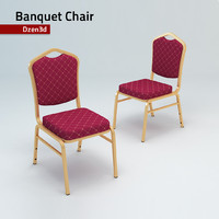 3d model hotel banquet chair