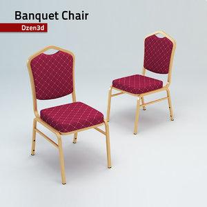 3d model hotel banquet chair