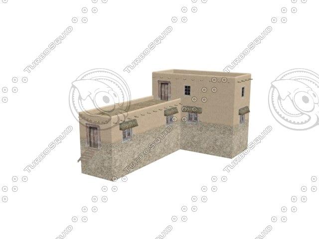 3d afghan building model