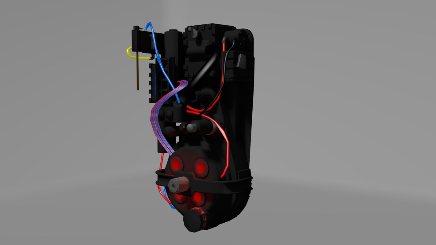 3dsmax ghostbusters proton pack