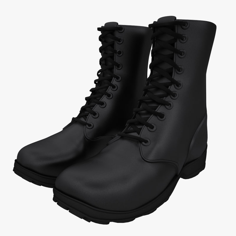 3d army boots model
