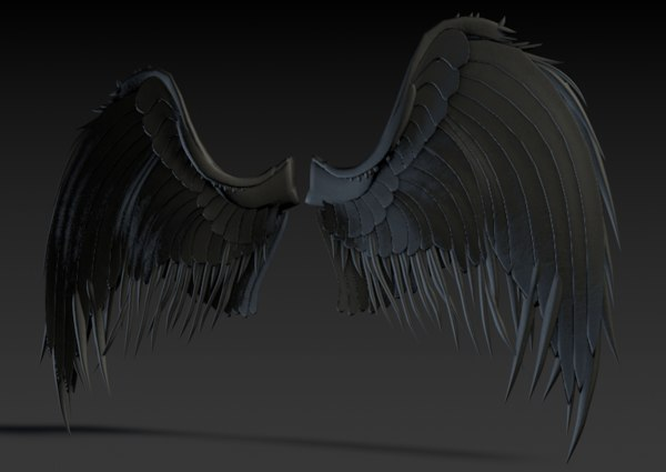 3d model dark wings
