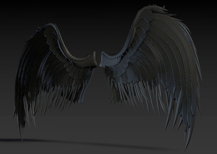 3d model dark wings