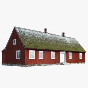 3d cottage red