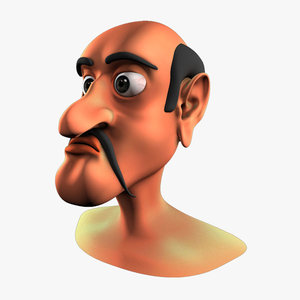 head cartoon toon 3d max