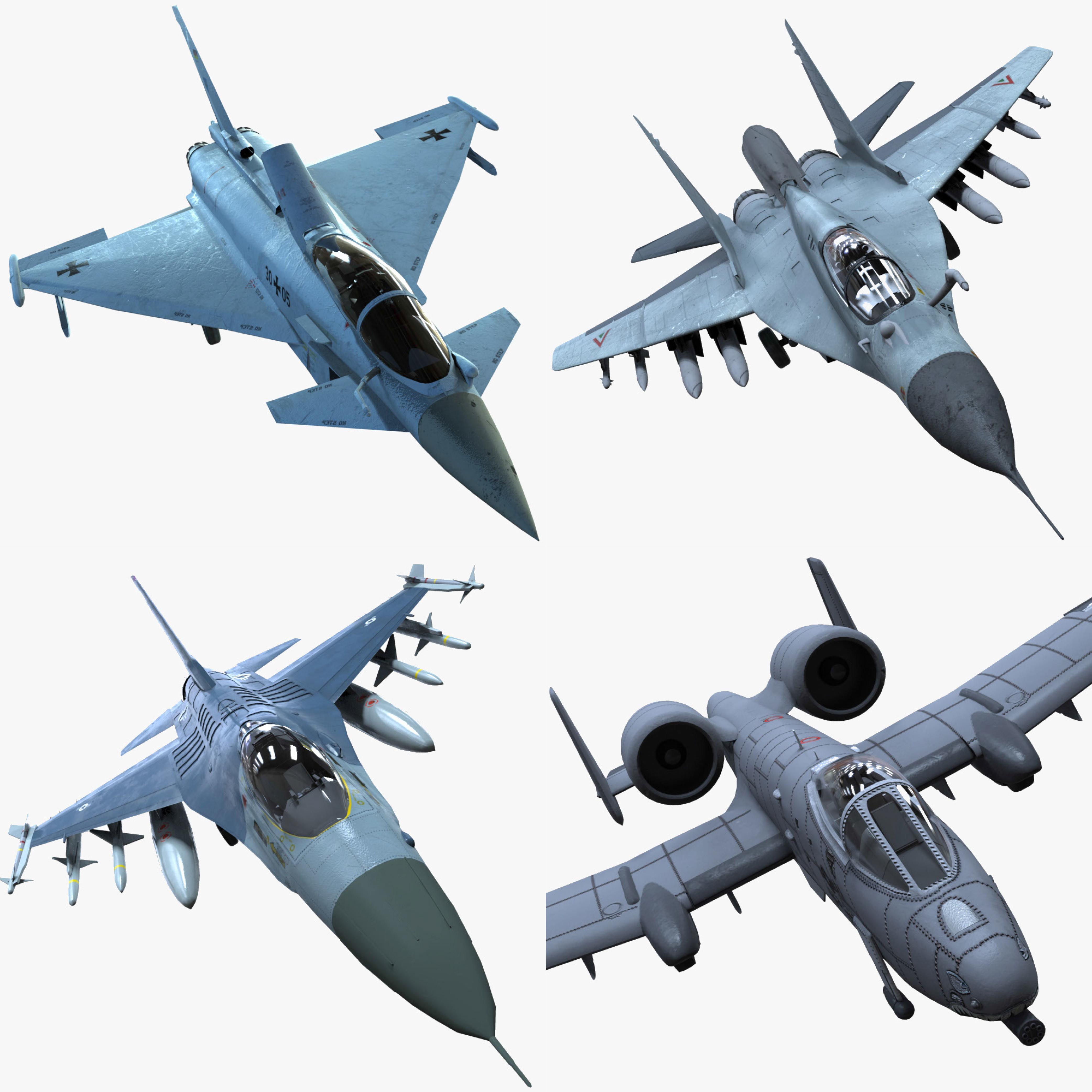 ready fighter planes 3d fbx