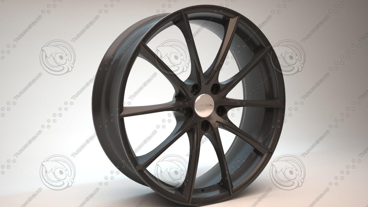 car wheel ace convex 3d model