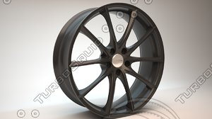 car wheel ace convex 3d model
