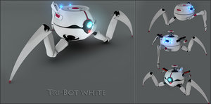 tri-bot rigging turret 3ds