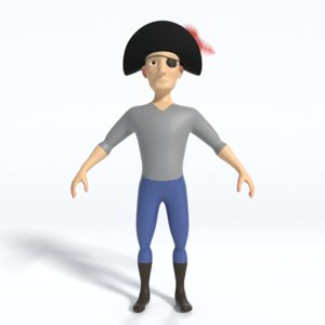 cartoon pirate eyepatch x