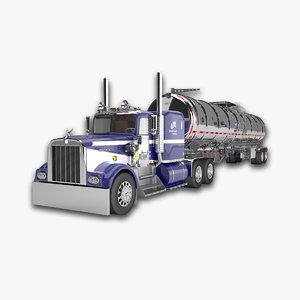 3d fuel tanker model