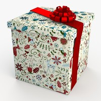 christmas gift present box 3ds