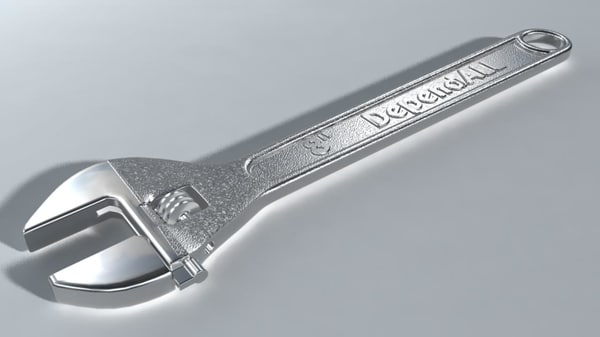 3d model adjustable wrench