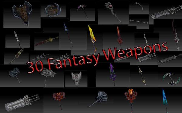 30 weapons 3d model