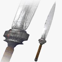 3d model fantasy medieval dagger