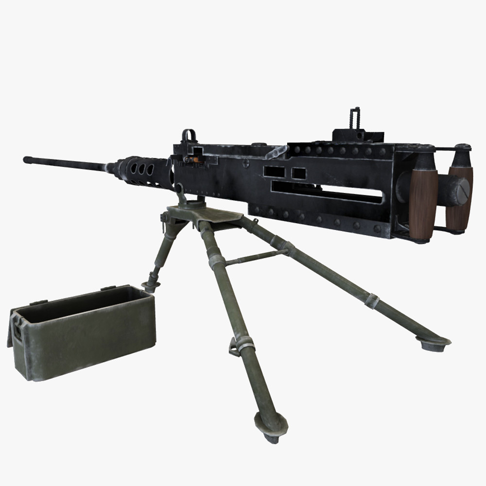 3d model of browning 50 cal