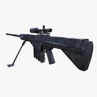 3d model of m-82 sniper rifle