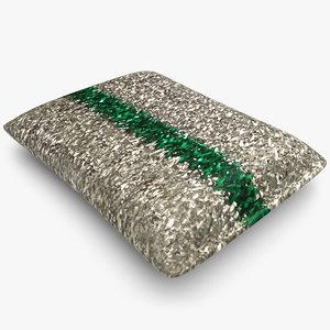 3d sponge silver