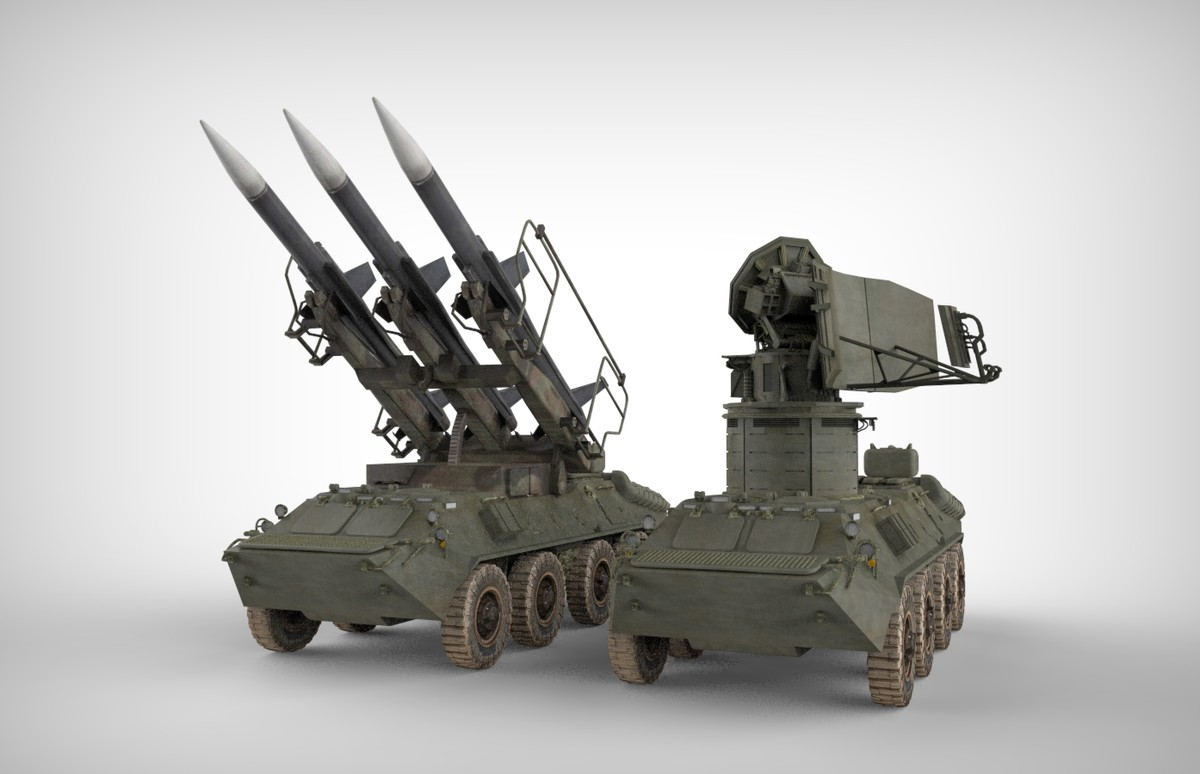 sa-6 gainful missile radars 3d model