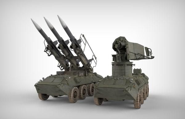 sa-6 gainful missile radars 3d model