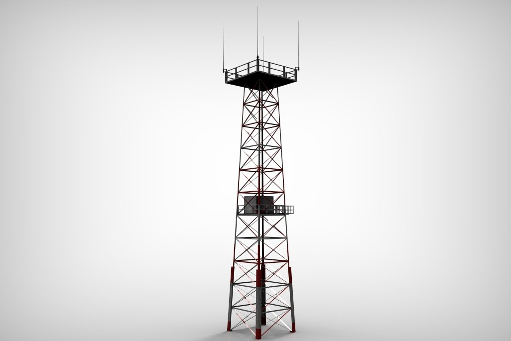 3dsmax red tower