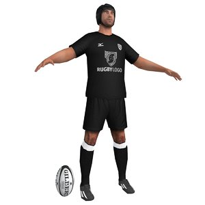rugby player 3d max