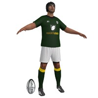 3d rugby player model
