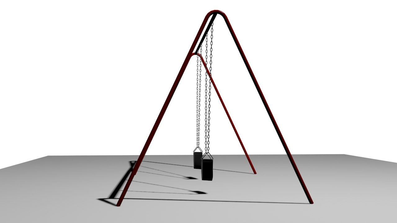 3d model swing wind blowing