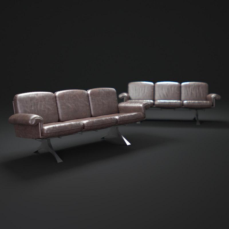 de-sede-desede-lounge-sofa-ds-31 3d model