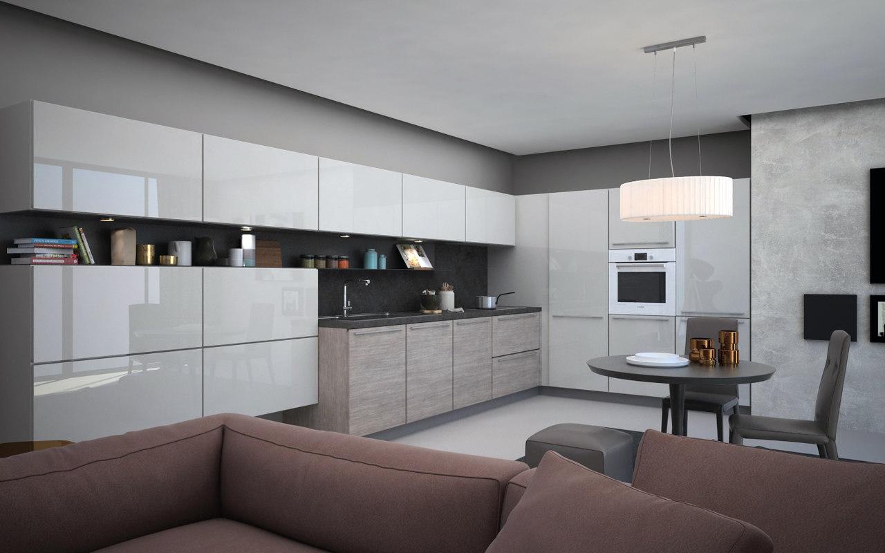 kitchen interior scene 3d max