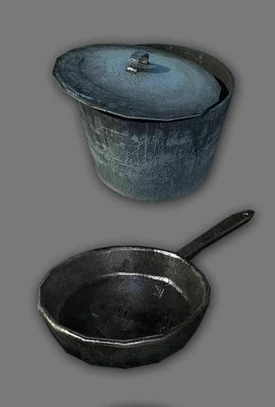 3d pack household items