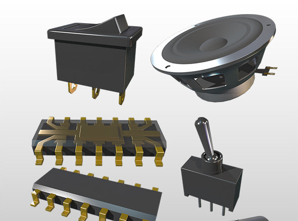 pack electrical parts 3d model