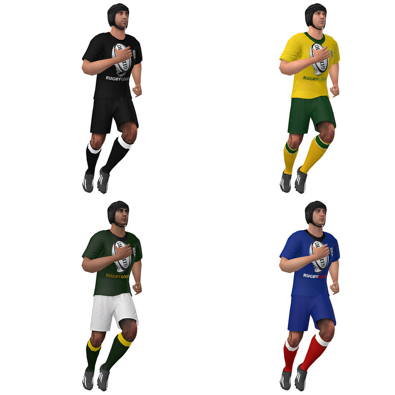 pack rigged rugby players max
