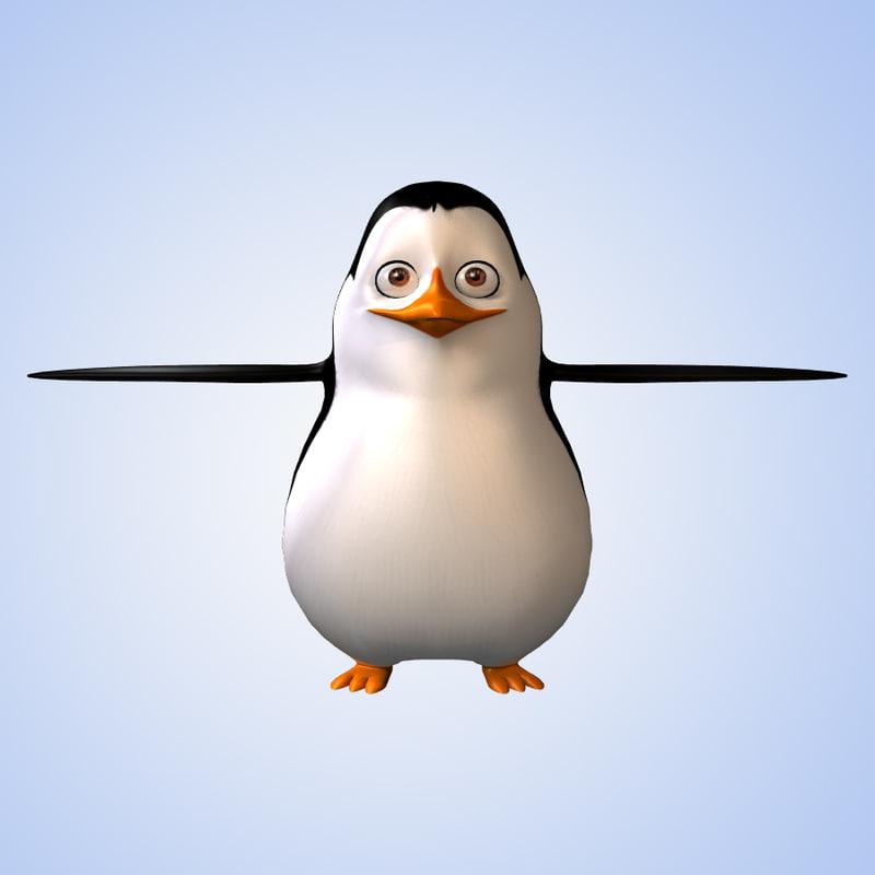 3dsmax penguin