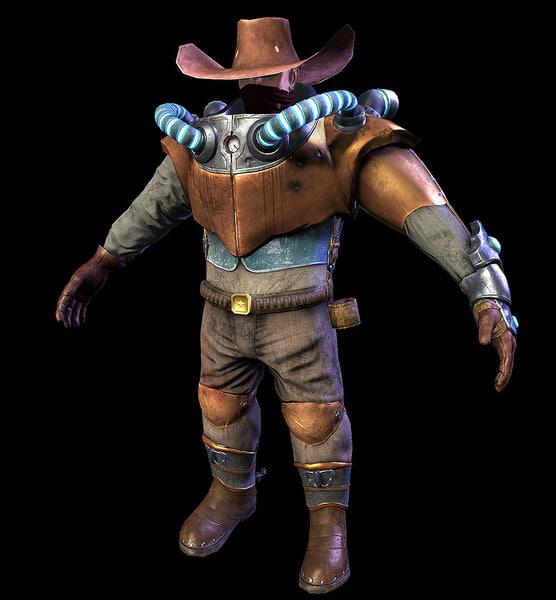 cowboy steampunk 3d model