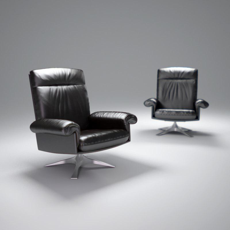 3d de-sede-ds-31-lounge-chair
