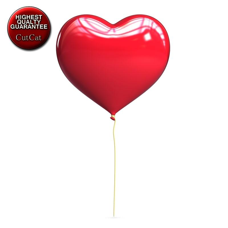 max love heart shaped balloon