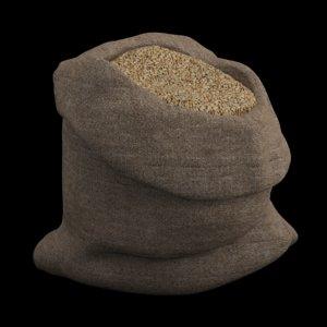 sack seeds millet 3d obj